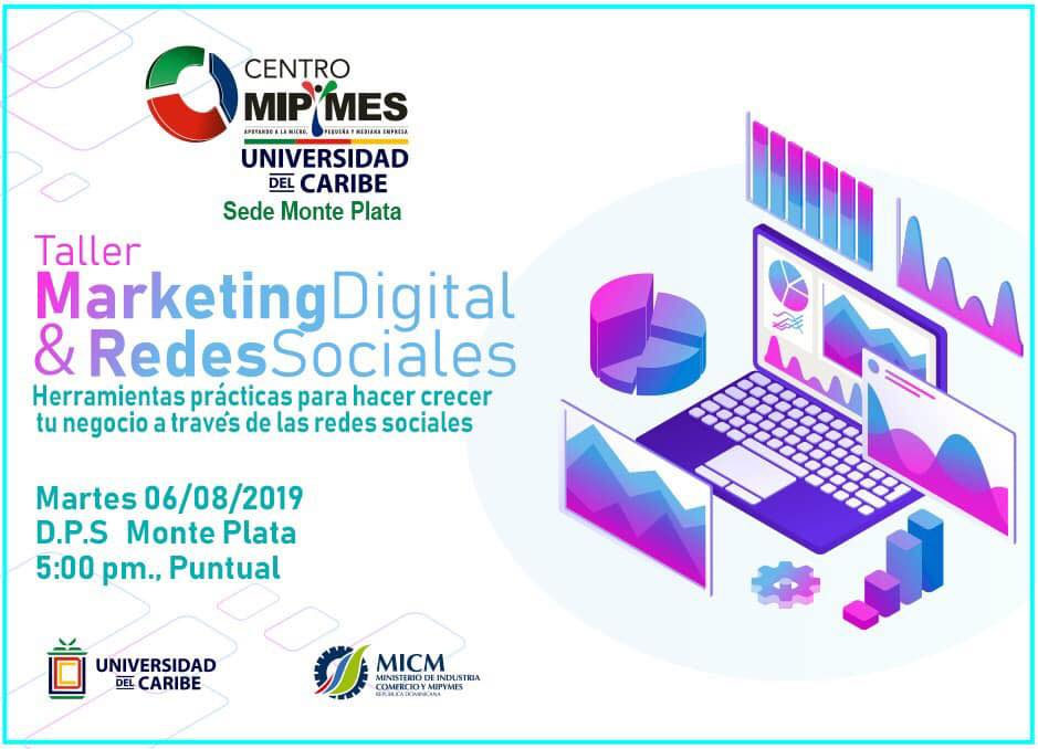 Taller De Mipymes Unicaribe Monte Plata impartirá mañana un taller de Marketing Digital